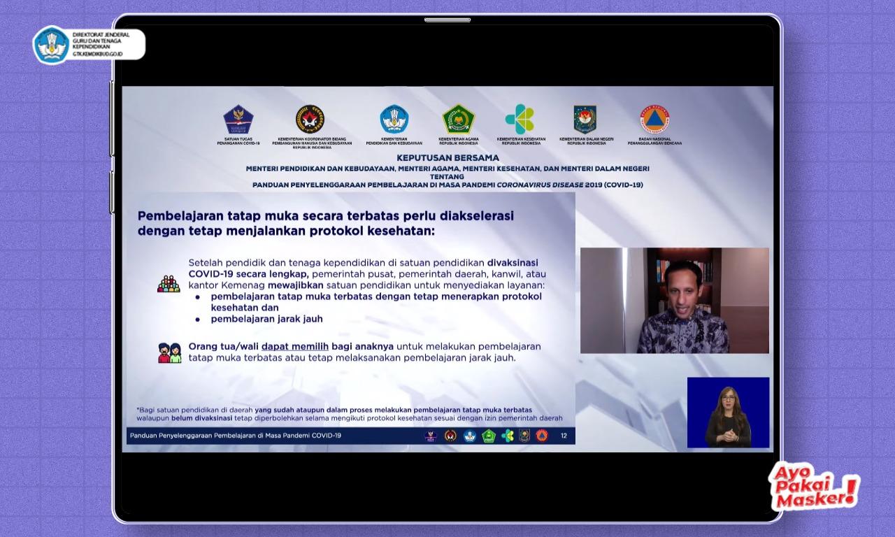Dorong Akselerasi PTM Terbatas, Pemerintah Umumkan SKB Empat Menteri