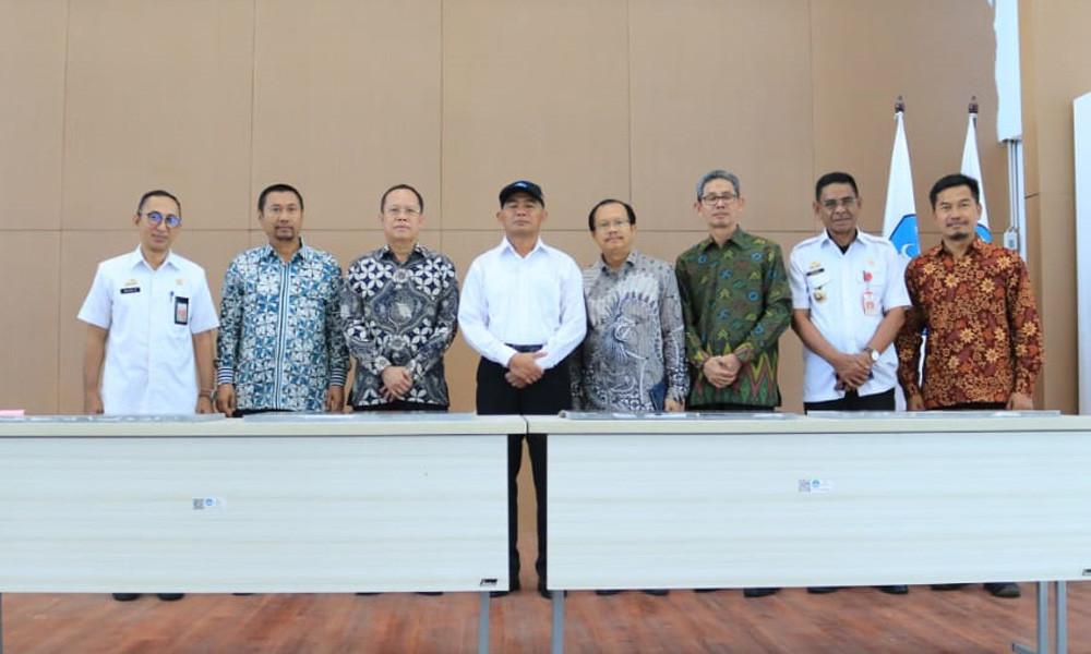 Dirjen GTK Bersama Menteri Pendidikan dan Kebudayaan Meresmikan Simulator Kapal di Gowa